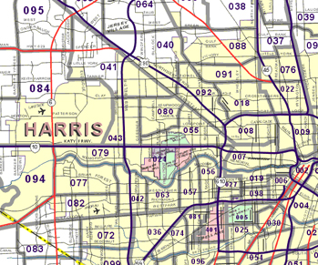 Greater Houston Area Zip Code Map.Mason Maps Catalog