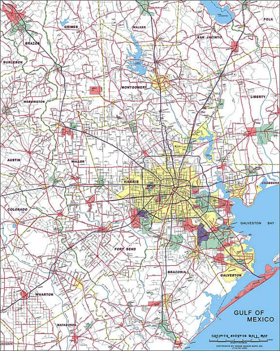 Greater Houston Wall Map