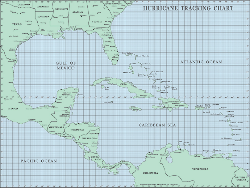 photograph regarding Printable Hurricane Tracking Map titled Mason Maps - Hurricane Monitoring Chart