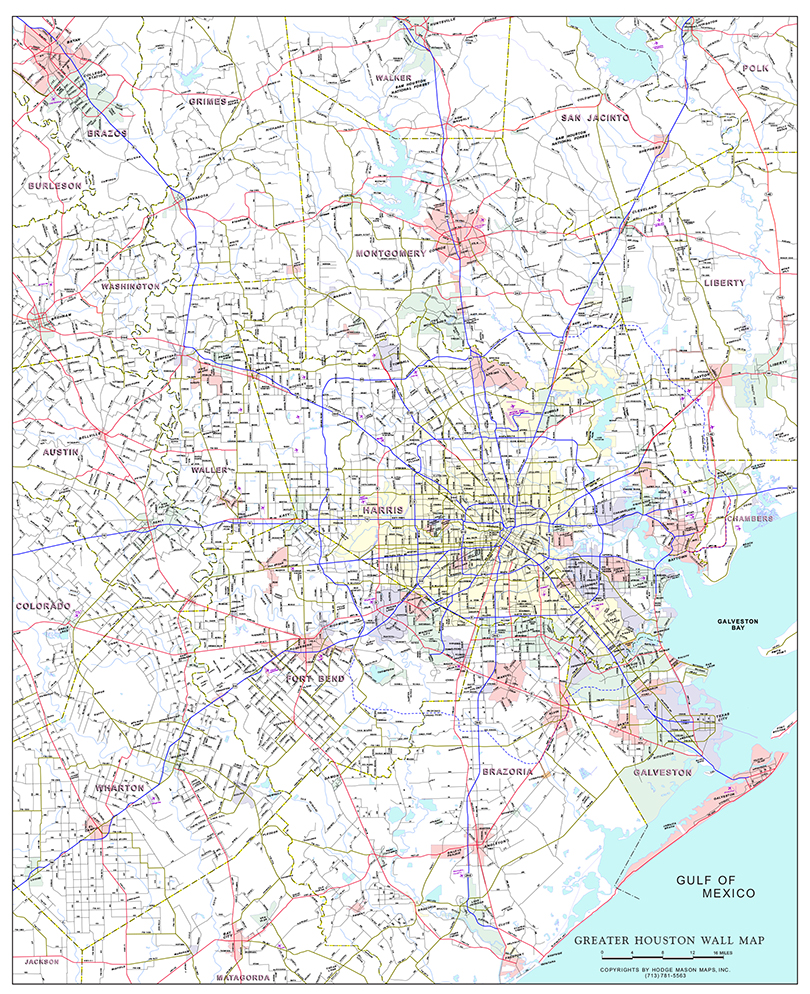 Greater Houston Area Zip Code Map.Mason Maps Custom Mapping Solutions For Your Business Greater
