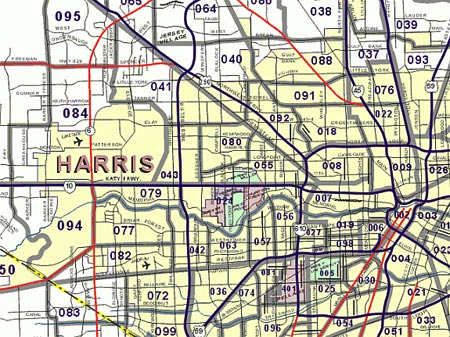... Zip Code Map, Harris County Zip Code Map to Houston Beaumont Zip Code